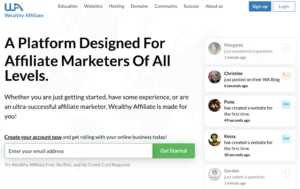 Weallthy Affiliate Sign Up Page