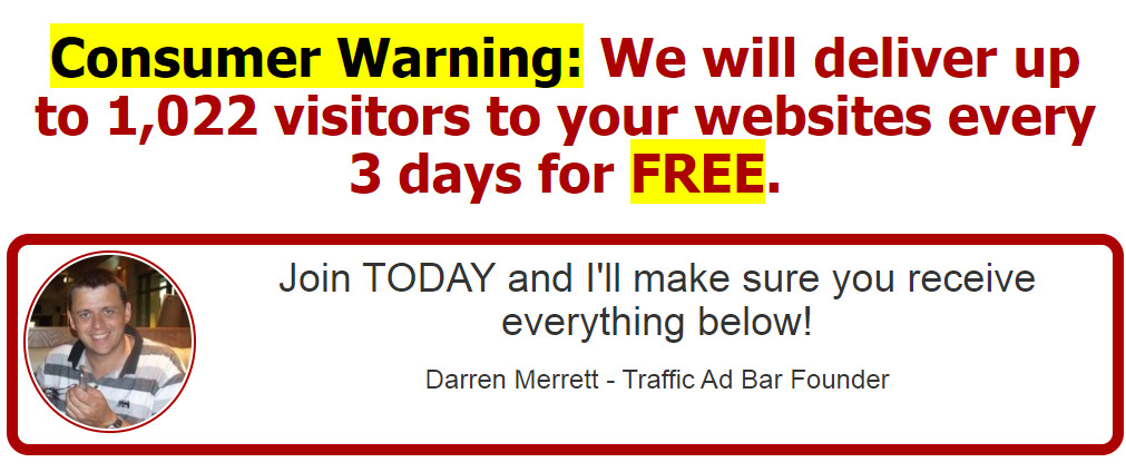 Traffic Ad Bar Website
