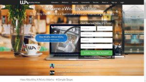 Wealthy Affiliate Landing Page